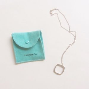 Tiffany & Co square gehry sterling silver necklace